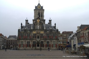 Delft Town Hall on the Markt square